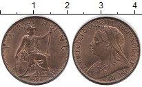 Изображение Монеты Европа Великобритания 1 фартинг 1896 Медь XF