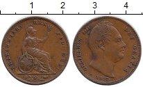 Изображение Монеты Великобритания 1 фартинг 1837 Медь XF