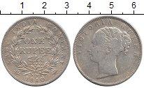 Изображение Монеты Азия Индия 1 рупия 1840 Серебро XF