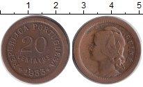Изображение Монеты Африка Гвинея 20 сентаво 1933 Медь XF