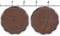 Изображение Монеты Кипр 1 пиастр 1946 Медь XF Георг VI.