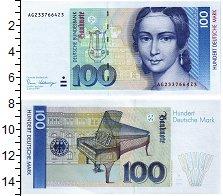 Изображение Банкноты ФРГ 100 марок 1989  UNC