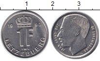 Изображение Дешевые монеты Люксембург 1 франк 1990 Никель XF