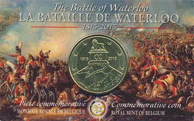 Изображение Мелочь Европа Бельгия 2 1/2 евро 2015 Латунь UNC