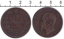 Изображение Монеты Италия 10 сентесим 1867 Медь XF Виктор  Эмманаил II.