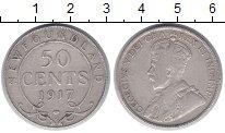 Изображение Монеты Ньюфаундленд 50 центов 1917 Серебро XF Протекторат  Британи