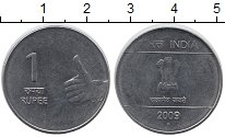 Изображение Мелочь Индия 1 рупия 2008 Медно-никель XF