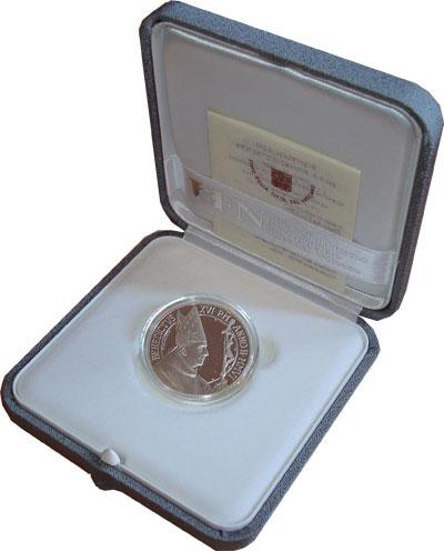 Изображение Подарочные монеты Ватикан 5 евро 2006 Серебро Proof