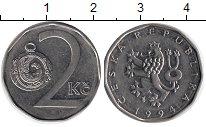 Изображение Дешевые монеты Европа Чехия 2 кроны 1994 Сталь покрытая никелем XF