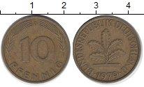 Изображение Дешевые монеты Европа Германия 10 пфеннигов 1979 Латунь-сталь