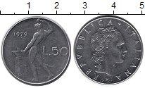 Изображение Дешевые монеты Италия 50 лир 1979 Сталь XF