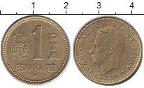 Изображение Дешевые монеты Европа Испания 1 песета 1980 Бронза XF