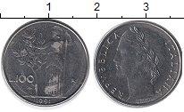 Изображение Дешевые монеты Италия 100 лир 1991 Сталь XF-