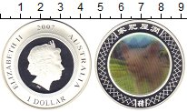 Изображение Монеты Австралия 1 доллар 2007 Серебро Proof Елизавета II. Цветна