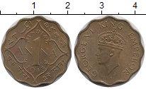 Изображение Монеты Индия 1 анна 1943 Медно-никель XF