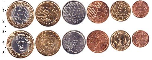 Изображение Наборы монет Бразилия Бразилия 2004-2013 2004 Неопределено UNC-