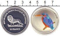 Изображение Монеты Конго 10 франков 2004 Серебро Proof-