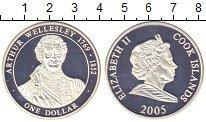 Изображение Монеты Острова Кука 1 доллар 2005 Серебро Proof- Веллингтон - королев