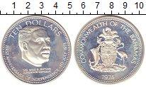 Изображение Монеты Багамские острова 10 долларов 1974 Серебро Proof-