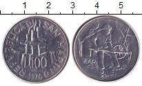 Изображение Монеты Сан-Марино 100 лир 1978 Железо XF