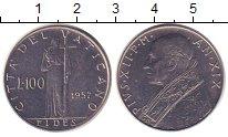 Изображение Монеты Европа Ватикан 100 лир 1957 Железо XF
