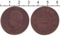 Изображение Монеты Португалия 20 рейс 1883 Медь VF Луиш I.