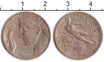 Изображение Монеты Европа Италия 20 сентесим 1912 Медно-никель XF
