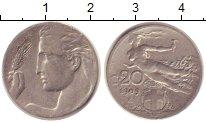 Изображение Монеты Европа Италия 20 сентесим 1909 Медно-никель XF