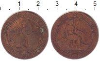 Изображение Монеты Испания 5 сентим 1870 Медь