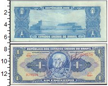 Изображение Банкноты Южная Америка Бразилия 1 крузейро 0  UNC