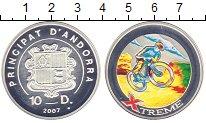 Изображение Монеты Андорра 10 динерс 2007 Серебро Proof- Велоспорт