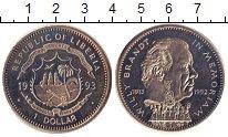 Изображение Монеты Либерия 1 доллар 1993 Медно-никель UNC Памяти  Вилли  Бранд