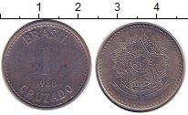 Изображение Дешевые монеты Южная Америка Бразилия 1 крузадо 1988 Сталь XF