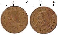 Изображение Дешевые монеты Мексика 5 сентаво 1968 Латунь XF