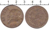 Изображение Дешевые монеты Мексика 1 песо 1974 Медно-никель XF-