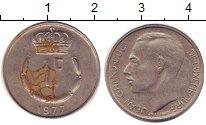Изображение Дешевые монеты Люксембург 1 франк 1977 Медно-никель XF-