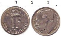 Изображение Дешевые монеты Европа Люксембург 1 франк 1988 Медно-никель XF