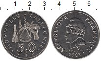 Изображение Мелочь Франция Новая Каледония 50 франков 1983 Медно-никель XF