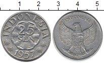 Изображение Монеты Индонезия 25 сен 1957 Алюминий VF