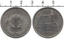 Изображение Монеты ГДР 5 марок 1984 Медно-никель XF Лейпциг. Томас кирха
