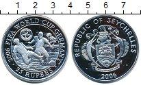 Изображение Монеты Сейшелы 25 рупий 2006 Серебро Proof Чемпионат  мира  по