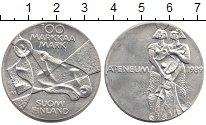 Изображение Монеты Финляндия 100 марок 1989 Серебро UNC