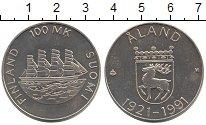 Изображение Монеты Финляндия 100 марок 1991 Серебро Proof- 70  лет  автономии