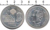 Изображение Монеты Европа Испания 2000 песет 1998 Серебро UNC-