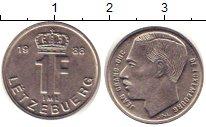 Изображение Дешевые монеты Люксембург 1 франк 1988 Медно-никель XF+