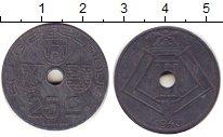 Изображение Дешевые монеты Бельгия 25 сентим 1943 Цинк XF