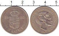 Изображение Дешевые монеты Маврикий 1 крона 1980 Медно-никель XF