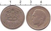 Изображение Дешевые монеты Африка Марокко 1 дирхам 1974 Медно-никель XF-