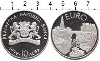 Изображение Монеты Болгария 10 лев 1999 Серебро Proof-