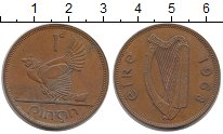 Изображение Монеты Ирландия 1 пенни 1968 Бронза XF